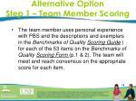 alternative option step 1 team member scoring