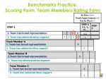 benchmarks practice scoring form team members rating form