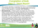 completion of boq step 3 team report