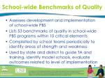school wide benchmarks of quality