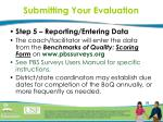 submitting your evaluation