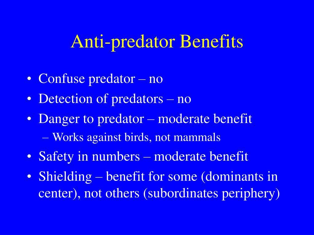 Anti-predator Benefits
