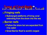 types of coral reefs
