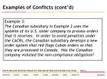 examples of conflicts cont d24