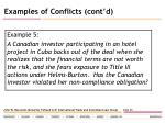 examples of conflicts cont d26
