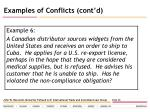 examples of conflicts cont d27