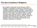 the non compliance obligation