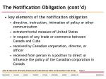 the notification obligation cont d