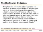 the notification obligation