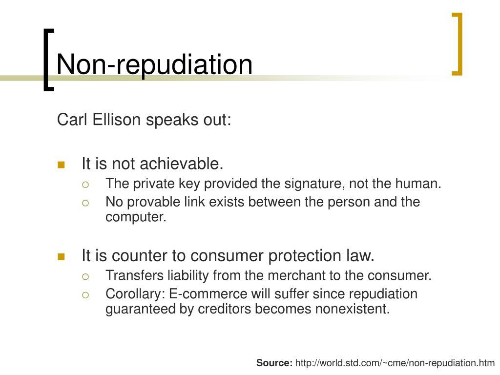 Non-repudiation