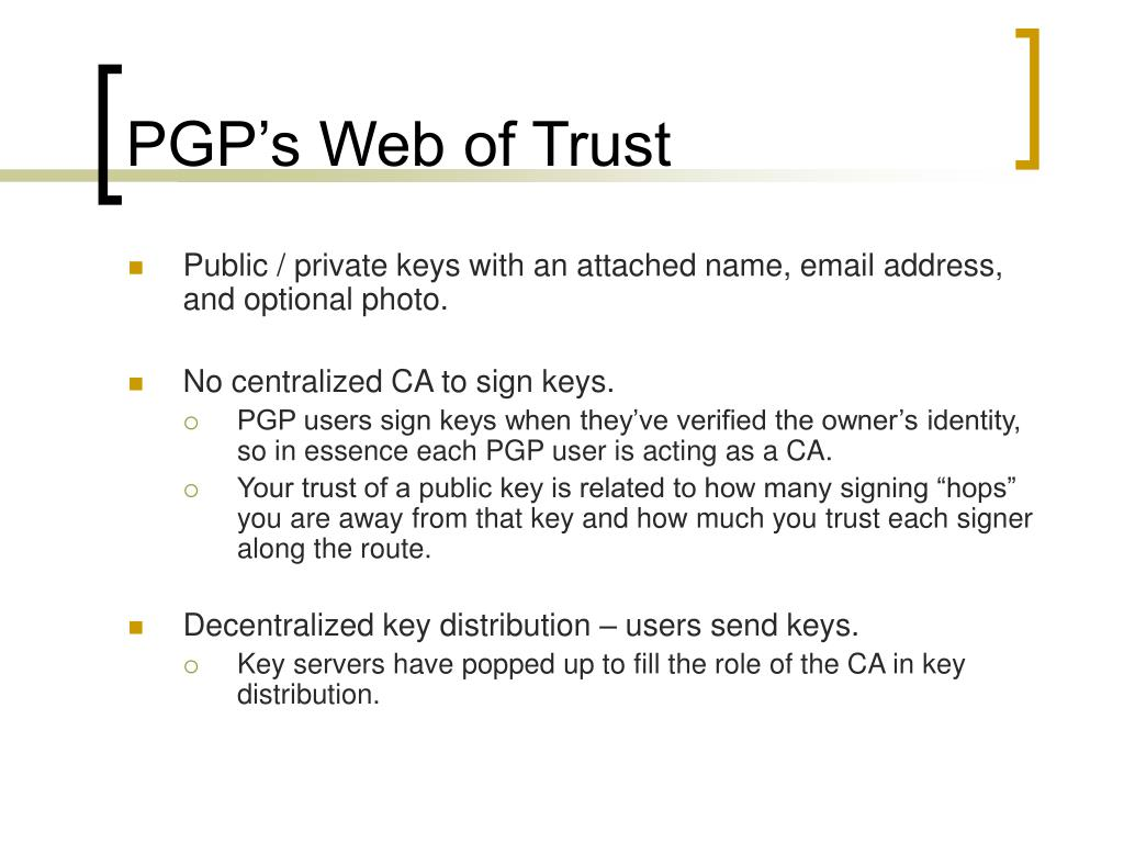 PGP's Web of Trust