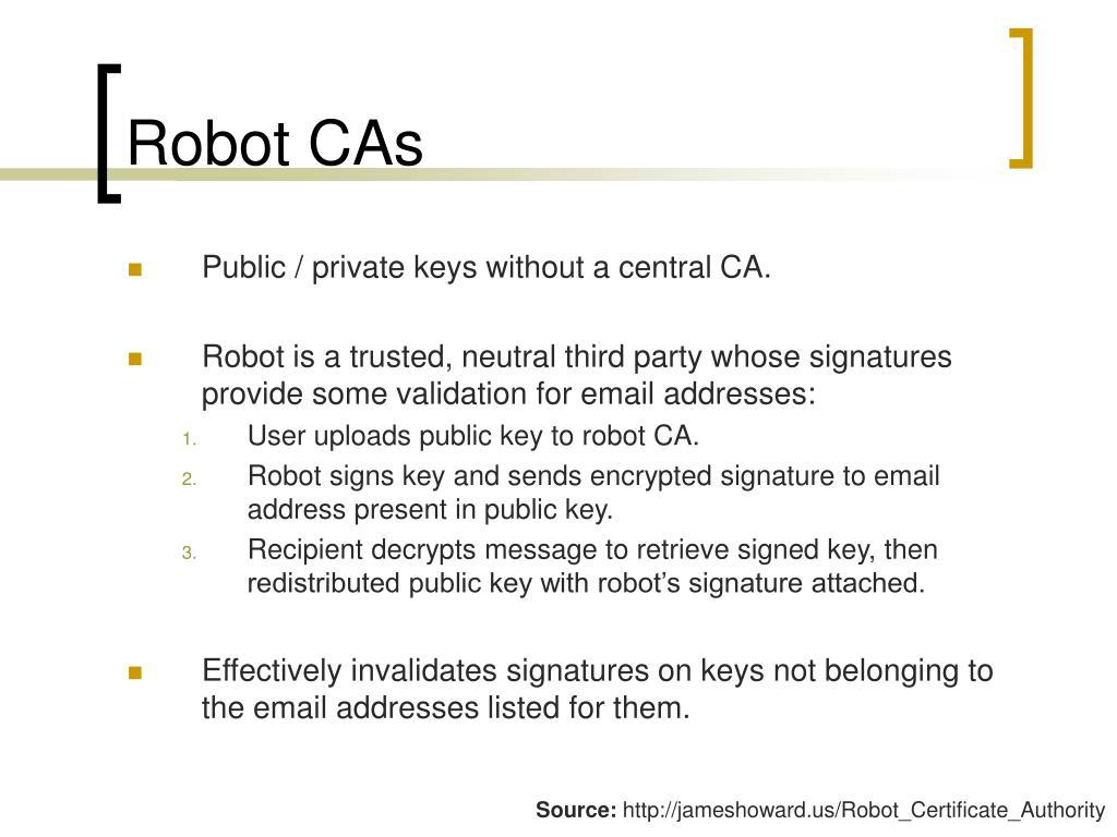 Robot CAs