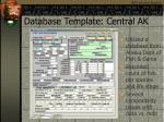 database template central ak