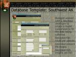 database template southwest ak