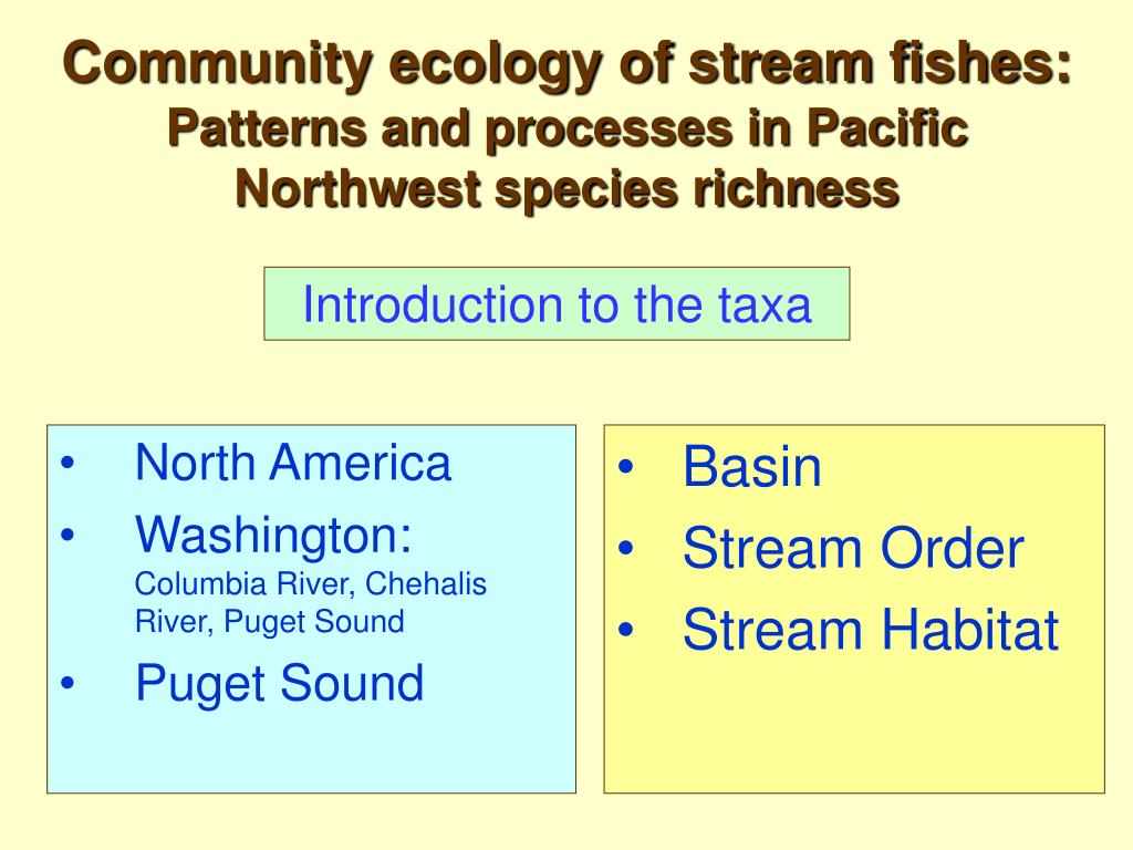 community ecology of stream fishes patterns and processes in pacific northwest species richness l.