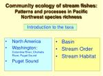community ecology of stream fishes patterns and processes in pacific northwest species richness