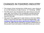 changes in fisheries industry