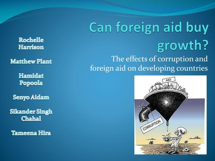 Can foreign aid buy growth