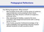 pedagogical reflections32