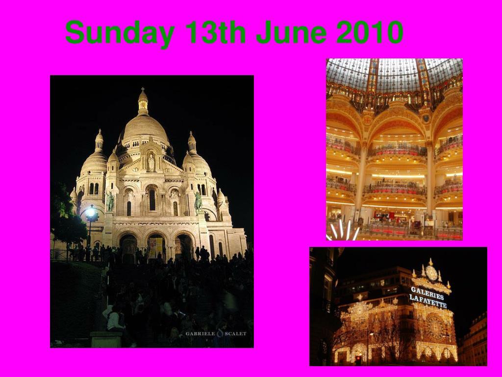 Sunday 13th June 2010
