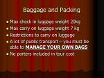 baggage and packing