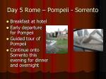 day 5 rome pompeii sorrento