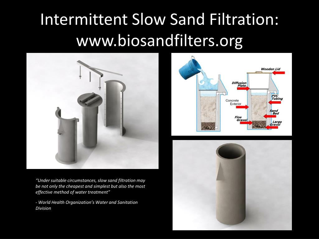 Intermittent Slow Sand Filtration: