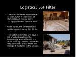 logistics ssf filter