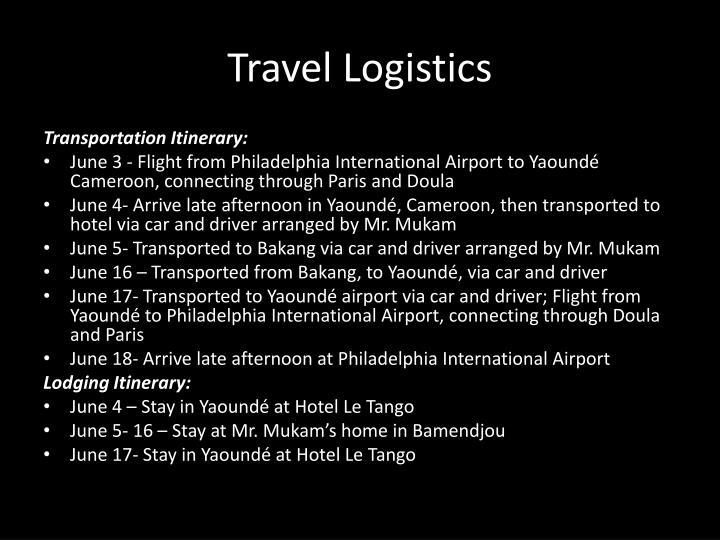 Travel logistics