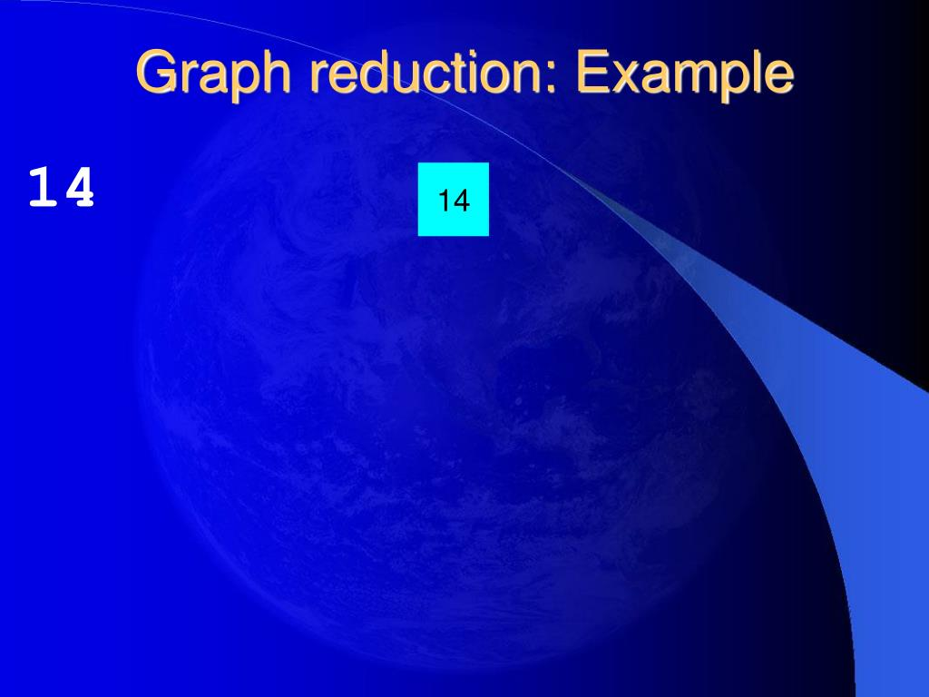 Graph reduction: Example