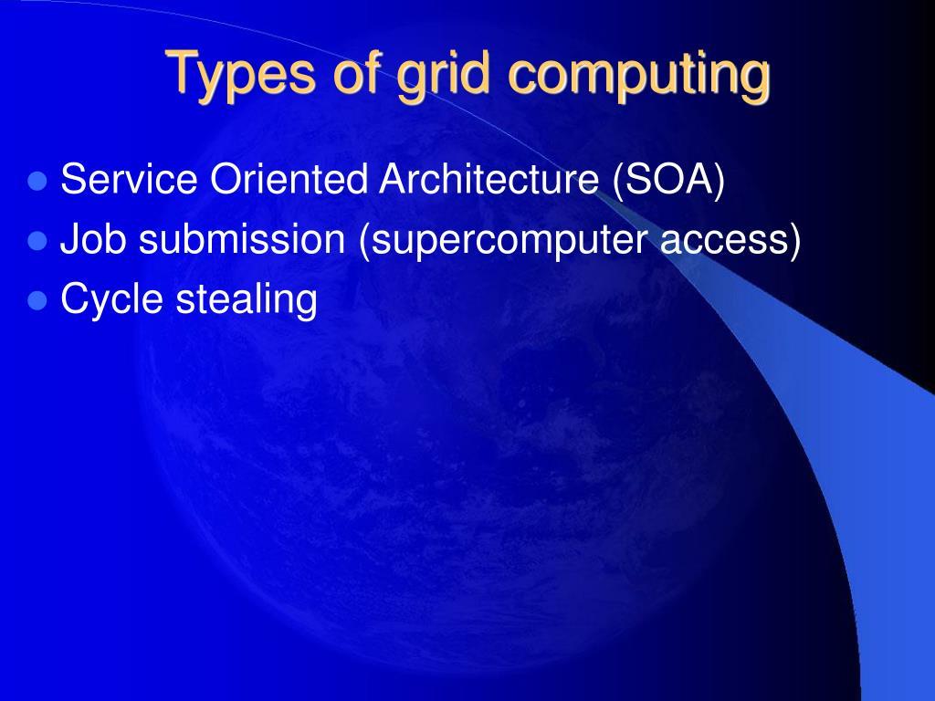 Types of grid computing