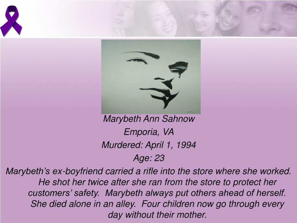 Marybeth Ann Sahnow