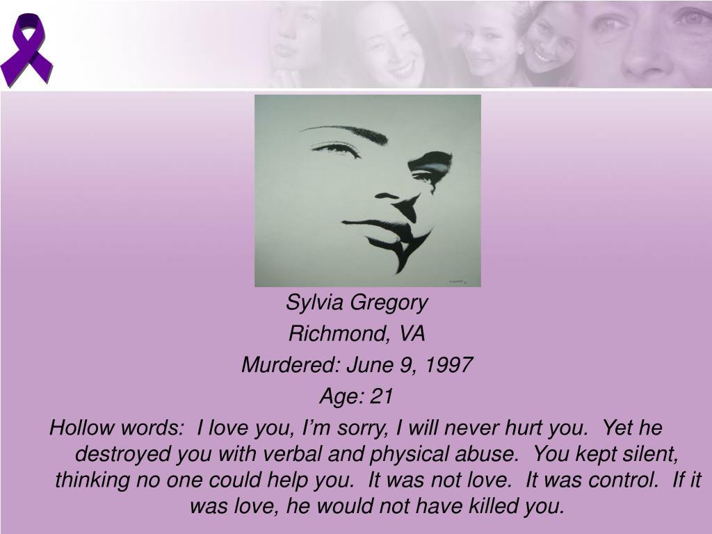 Sylvia Gregory