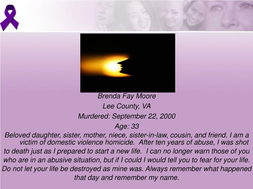 Brenda Fay Moore