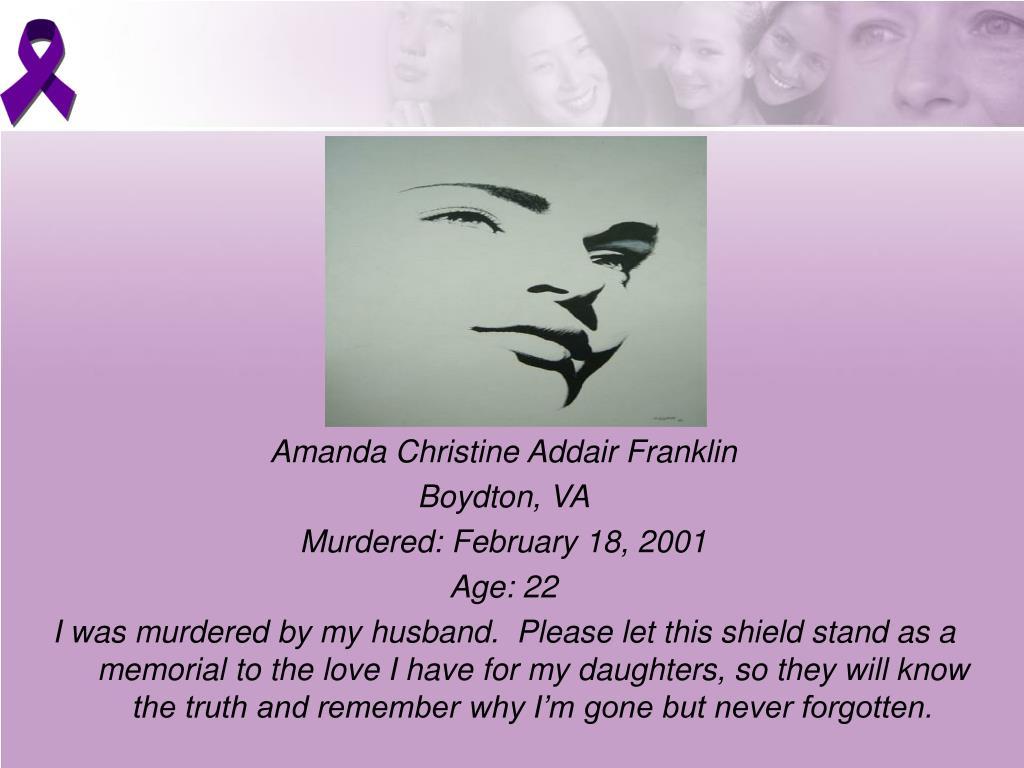 Amanda Christine Addair Franklin