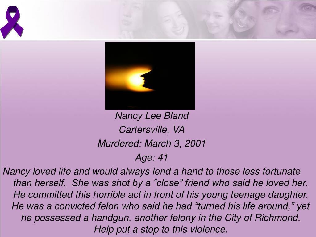 Nancy Lee Bland