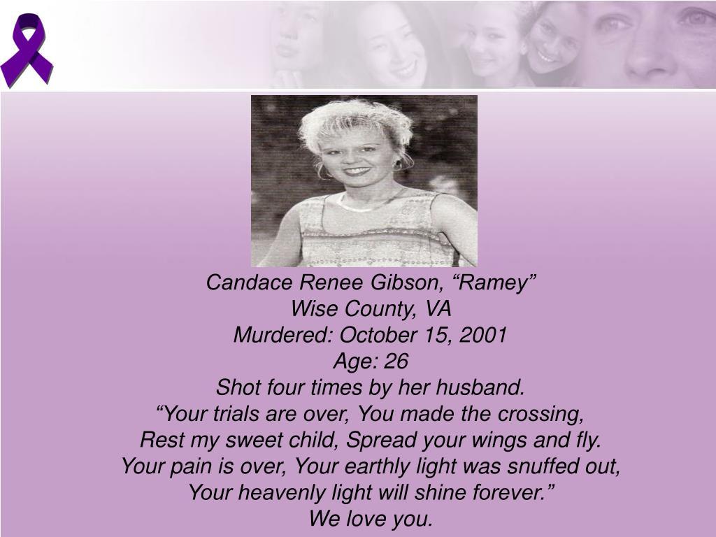 "Candace Renee Gibson, ""Ramey"""