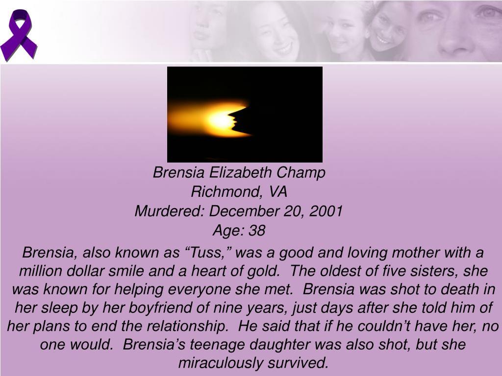 Brensia Elizabeth Champ
