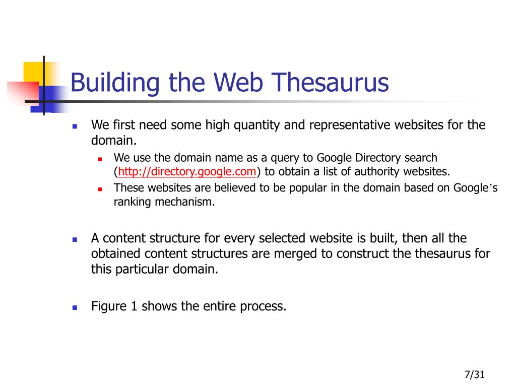 Building the Web Thesaurus