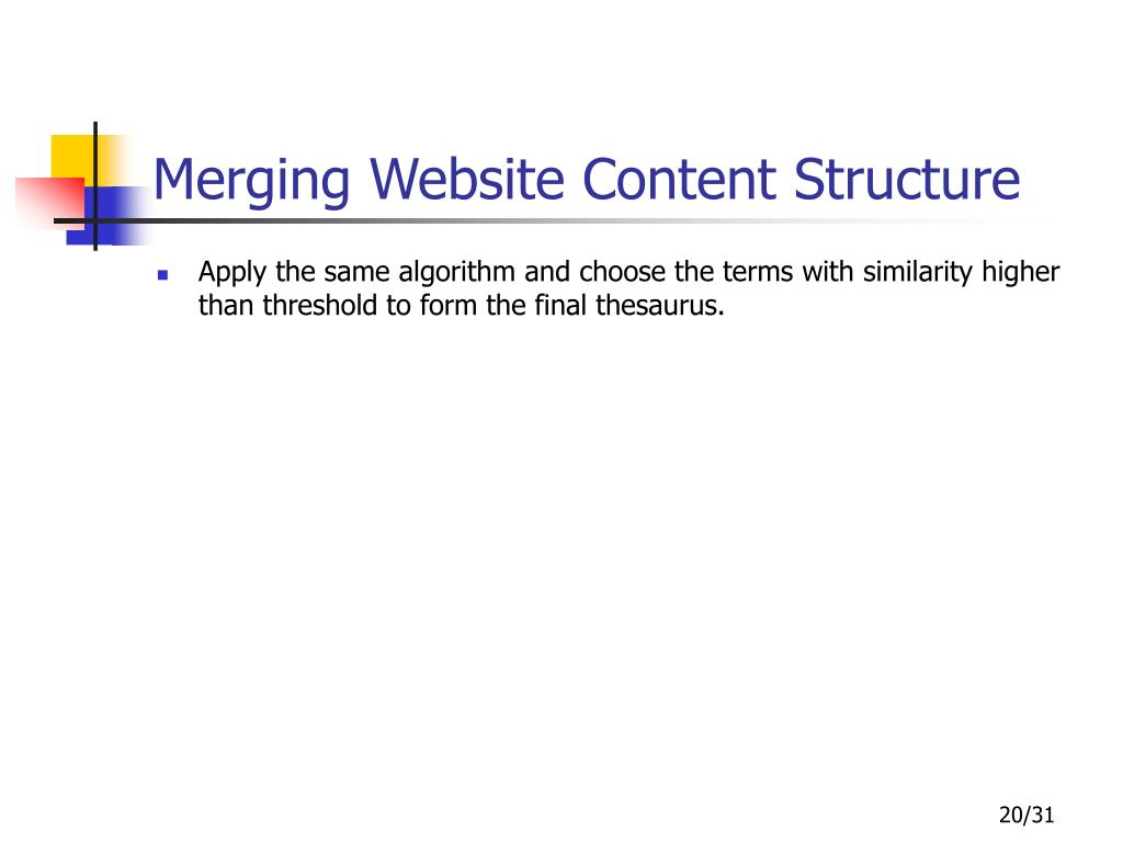 Merging Website Content Structure