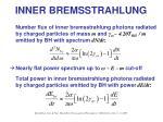 inner bremsstrahlung