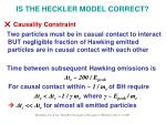 is the heckler model correct15