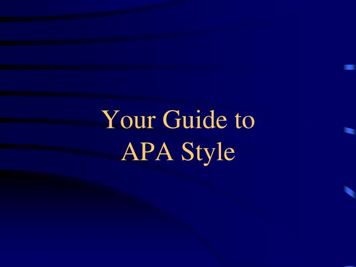 your guide to apa style n.