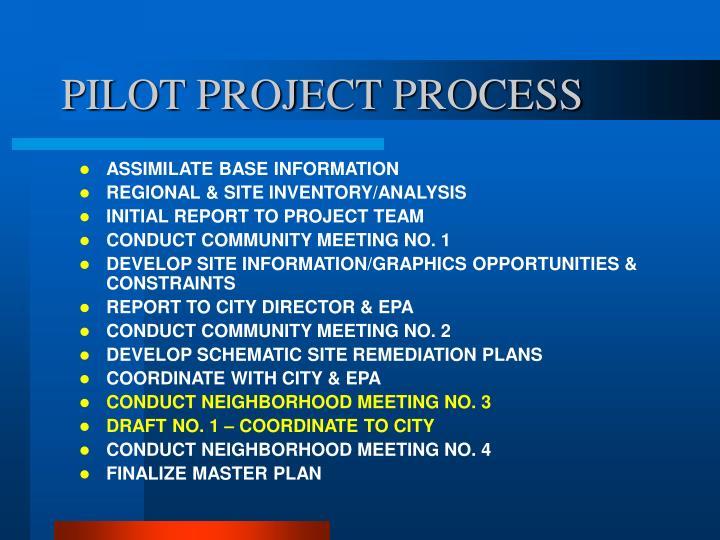 Pilot project process