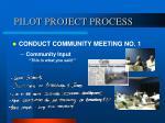 pilot project process7