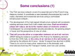 some conclusions 1
