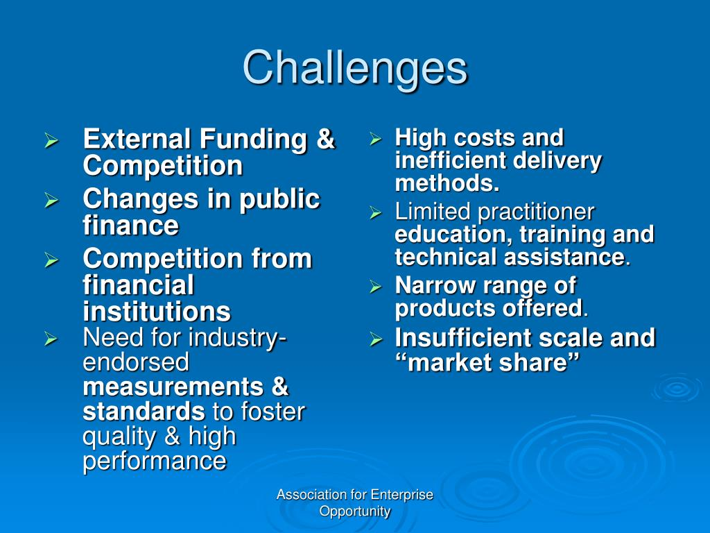 External Funding & Competition