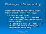 challenges of micro lending32