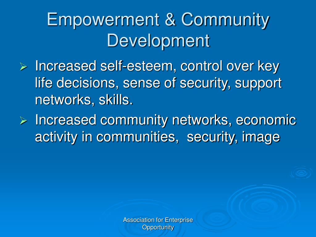 Empowerment & Community Development