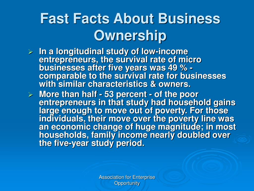 Fast Facts About Business Ownership
